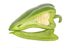 Pimienta verde rebanada Foto de archivo