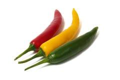 Pimienta verde y amarilla roja imagen de archivo libre de regalías