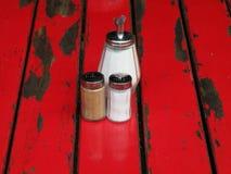 Pimienta y azúcar de la sal Foto de archivo libre de regalías