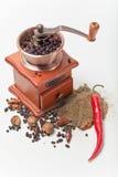 Pimienta y molino, Imagen de archivo libre de regalías