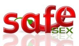 Pimienta y sexo seguro stock de ilustración