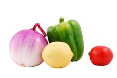Pimienta y tomate Fotos de archivo libres de regalías