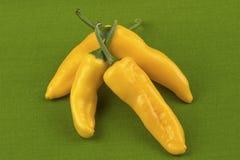 Pimientas amarillas fotografía de archivo libre de regalías