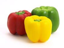 Pimientas amarillas rojas verdes Imagen de archivo libre de regalías