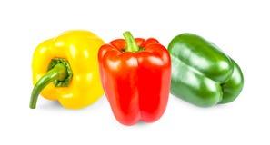Pimientas amarillas, rojas y verdes Imagen de archivo libre de regalías