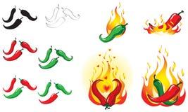 Pimientas de chile Imagen de archivo