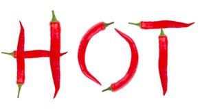 Pimientas de chile caliente Fotos de archivo libres de regalías