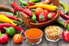 Pimientas de chile caliente Foto de archivo libre de regalías