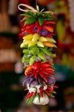 Pimientas de chile coloridas Imagen de archivo libre de regalías