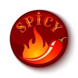 Pimientas de chile en fuego ilustración del vector