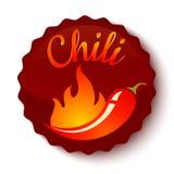 Pimientas de chile en fuego libre illustration