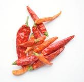 Pimientas de chile rojas secadas de pimienta Foto de archivo