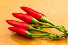 Pimientas de chile rojo maduras Foto de archivo libre de regalías