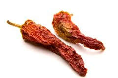 Pimientas de chile rojo secadas Imagenes de archivo