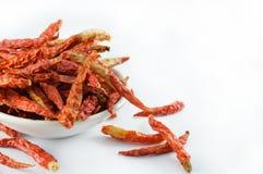 Pimientas de chile rojo secas Fotografía de archivo libre de regalías