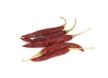 Pimientas de chile rojo secas Foto de archivo