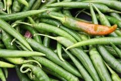 Pimientas de chile verdes Foto de archivo