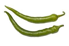 Pimientas de chile verdes Foto de archivo libre de regalías