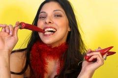 Pimientas de chiles Foto de archivo libre de regalías