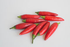 Pimientas de chiles de Birdseye Foto de archivo libre de regalías