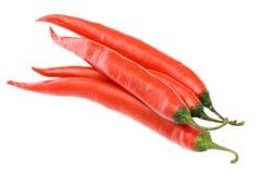 Pimientas de chiles rojos Fotos de archivo libres de regalías