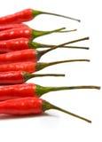 Pimientas de chiles rojos Fotografía de archivo