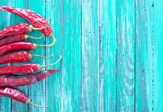 Pimientas de chiles rojos Imagenes de archivo