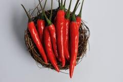 Pimientas de chiles rojos Fotografía de archivo libre de regalías