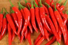 Pimientas de chiles rojos. imágenes de archivo libres de regalías