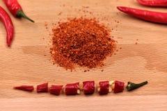 Pimientas de chiles secas Imagen de archivo libre de regalías