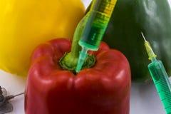 Pimientas de la OGM Fotografía de archivo libre de regalías