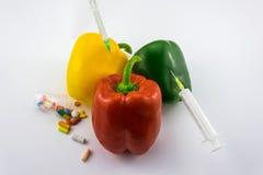 Pimientas de la OGM Foto de archivo libre de regalías