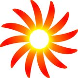 Pimientas de la sol del chile caliente Imagen de archivo