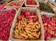 Pimientas del mercado Fotos de archivo
