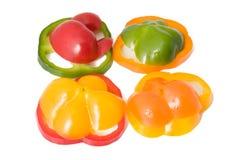 Pimientas dulces clasificadas Imagenes de archivo