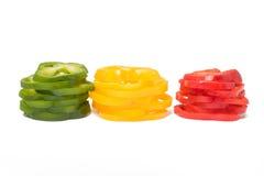 Pimientas dulces clasificadas Fotografía de archivo