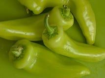 Pimientas dulces verdes del plátano imagen de archivo