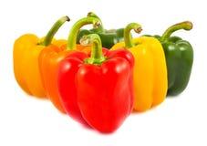 Pimientas dulces verdes, rojas, amarillas y anaranjadas Imagen de archivo libre de regalías