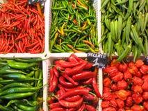 Pimientas en el mercado Fotografía de archivo libre de regalías