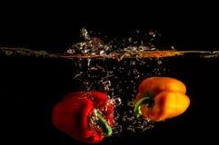 Pimientas frescas Fotografía de archivo libre de regalías