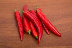 Pimientas frescas de Chile Fotos de archivo libres de regalías