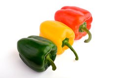 Pimientas frescas rojas y amarillas verdes Fotografía de archivo libre de regalías