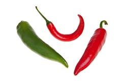 Pimientas picantes rojas y verdes. imágenes de archivo libres de regalías