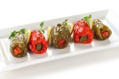 Dolmasi de Biber, comida turca Imagen de archivo libre de regalías