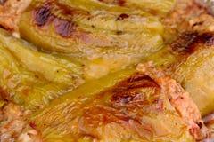 Pimientas rellenas del plátano Foto de archivo libre de regalías
