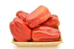 Pimientas rojas Fotos de archivo libres de regalías