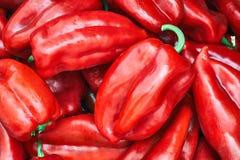 Pimientas rojas dulces Fotos de archivo