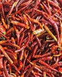 Pimientas rojas a granel Fotografía de archivo libre de regalías