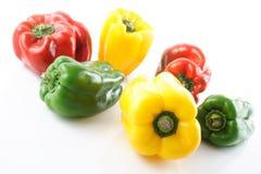 Pimientas, rojo, amarillo, naranja, verde Foto de archivo libre de regalías