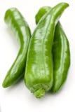 Pimientas verdes Imagenes de archivo